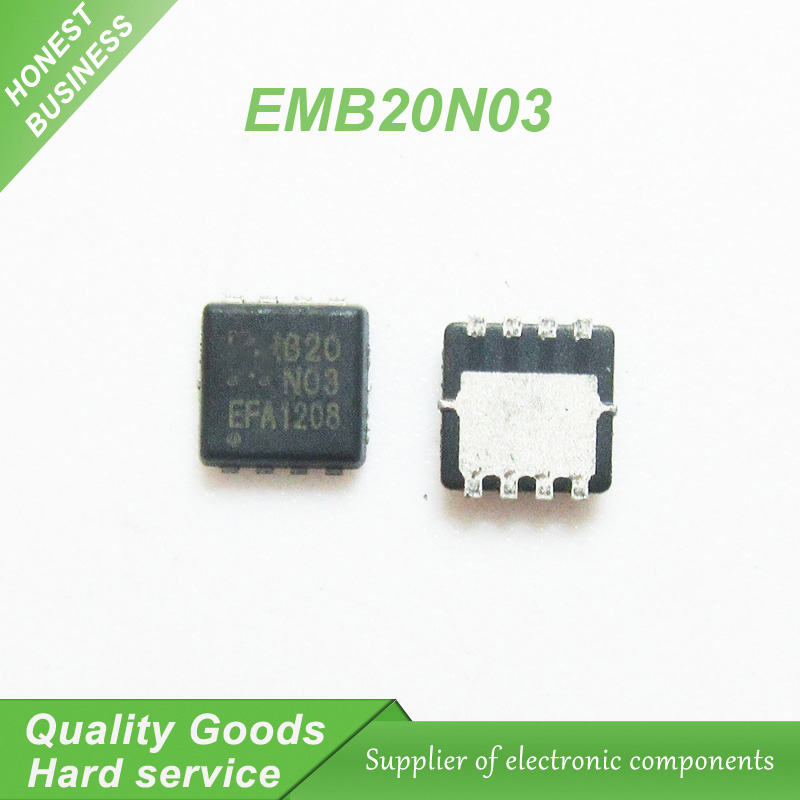 5pcs EMB20N03 B20N03 QFN MOSFET(Metal Oxide Semiconductor Field Effect Transistor) management chip