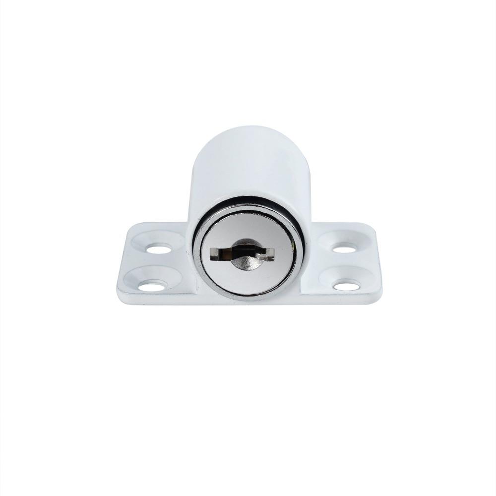 4 Pcs White Sliding Patio Door Catches Set Window Bolt Security Lock Sliding Door Locks Screw For Child Safety Lock Anti-theft