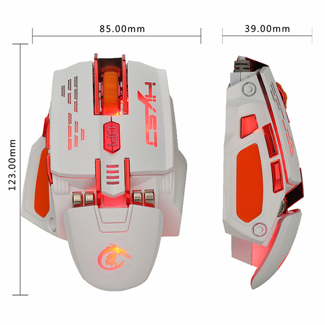 New 2.4Ghz Mini Portable Wireless Optical 2400DPI 6 Buttons USB Adjustable Professional Gaming Game Mouse Mice For PC Laptop