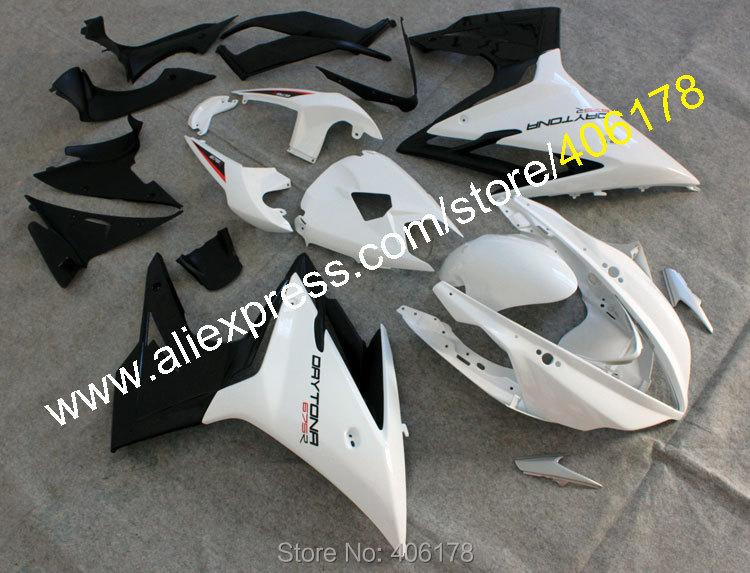 Hot Sales,Cheap Sport Bike Fairings For TRIUMPH Daytona 675 2013 2014 2015 Daytona675 13-15 White Black Motorcycle Fairing Kits