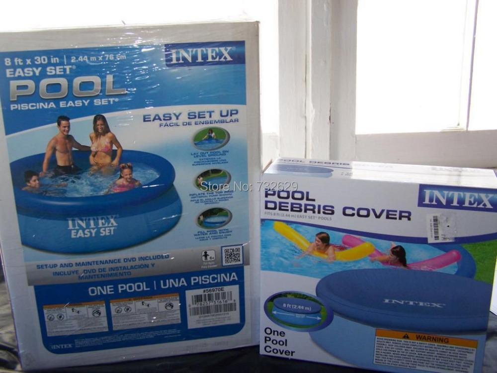 New 8 39 x 30 intex easy set round above ground pool for Inflatable above ground pools