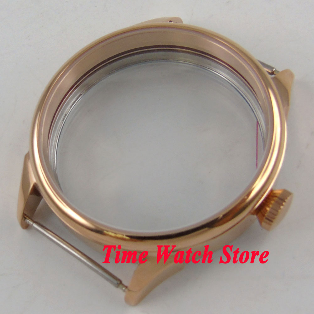 Parnis 42mm Gold plated watch case fit ETA 6497 6498 hand winding movement C139 цена и фото