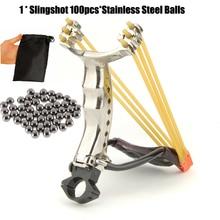 Slingshot Powerful Folding Wrist Brace Support Shot Aluminium Alloy Slingshot Outdoor Hunt Hike Bow Catapult Careful Kid Use цена