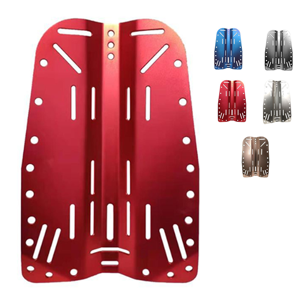Multicolor Aluminium Scuba Diving Technic Backplate Diver BCD Plate