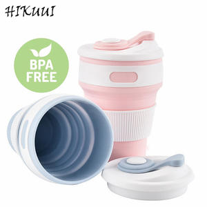 HIKUUI Silicone Collapsible coffee cup folding Travel