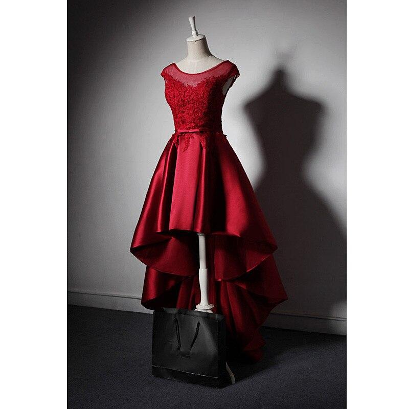 Классические летние винтажные элегантные вечерние ночной клуб ужин мяч церемонии Махаон бальное платье Кружева лоскутное атласа красный д