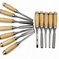 12Pcs/set Manual Wood Carving Hand Chisel Couteau Knife Set Carpenters For Woodcut Working Handmade Stamps DIY Hand Tools