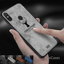 Luxury 360 Soft Tpu Edge Embossed Deer Cloth Phone Case For Xiaomi Pocophone F1 mi 8 5 6 my 8 mi6 mi8 Max 2 3 Canvas Shell Cover(China)