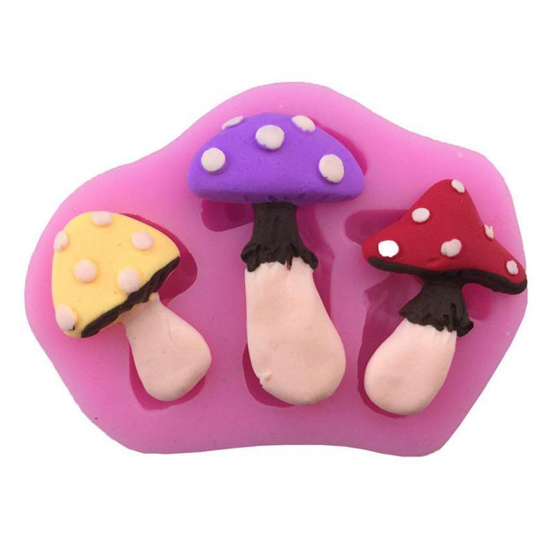 Mushroom Forma Herramientas de Caramelo de Chocolate Para Hornear de Silicona De