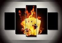Chama de Poker impresso Pintura Em Tela Decoração do Quarto Cartaz Impressão Pintura Da Lona Imagem For Living Room Decor (Sem Moldura)