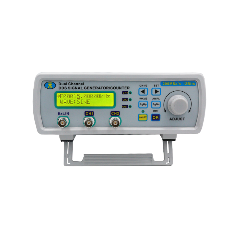 Digital Signal Source Generator Arbitrary Waveform MHS-5200A Frequency Meter DDS Dual-channel Generators 25MHz 15%off mhs 5200a dual channel dds signal generator arbitrary waveform generator port pc software for square wave triangle wave 50%off