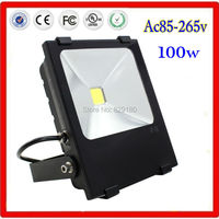 2 pieces/lot 100w Ac 85 265v LED Flood Light Waterproof Outdoor Lights 250w Halogen Bulb Equivalent Black Case