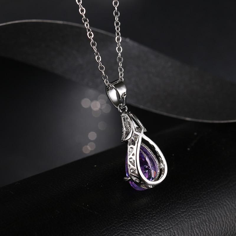 Emmaya Fashion Cheap Purple Purple Crystal Վզնոցներ և - Նորաձև զարդեր - Լուսանկար 4