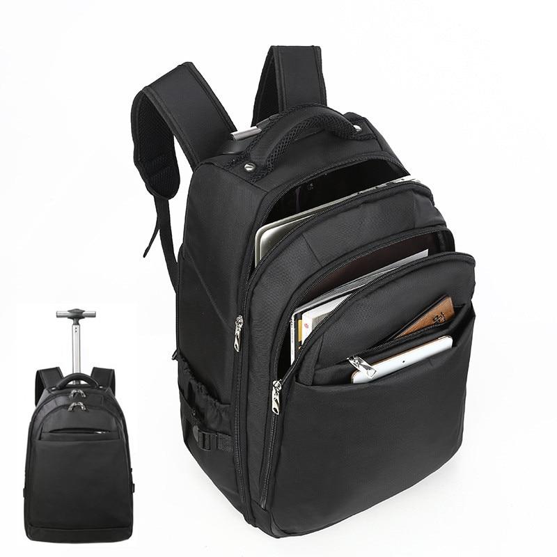 LHLYSGS Trolley Case Women Boarding Trip Backpack Men Large capacity Multifunction Fashion Laptop Travel Backpacks