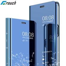 Crouch case For Huawei mate 10 lite case Flip Mirror Clear View back cover For Huawei P10 P9 Plus Case Leather coque case cover(China)