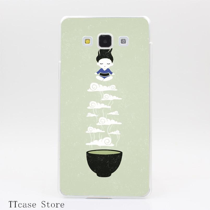 4177CA Zen tea Transparent Hard Cover Case for Galaxy A3 A5 A7 A8 Note 2 3 4 5 J5 J7 Grand 2 & Prime