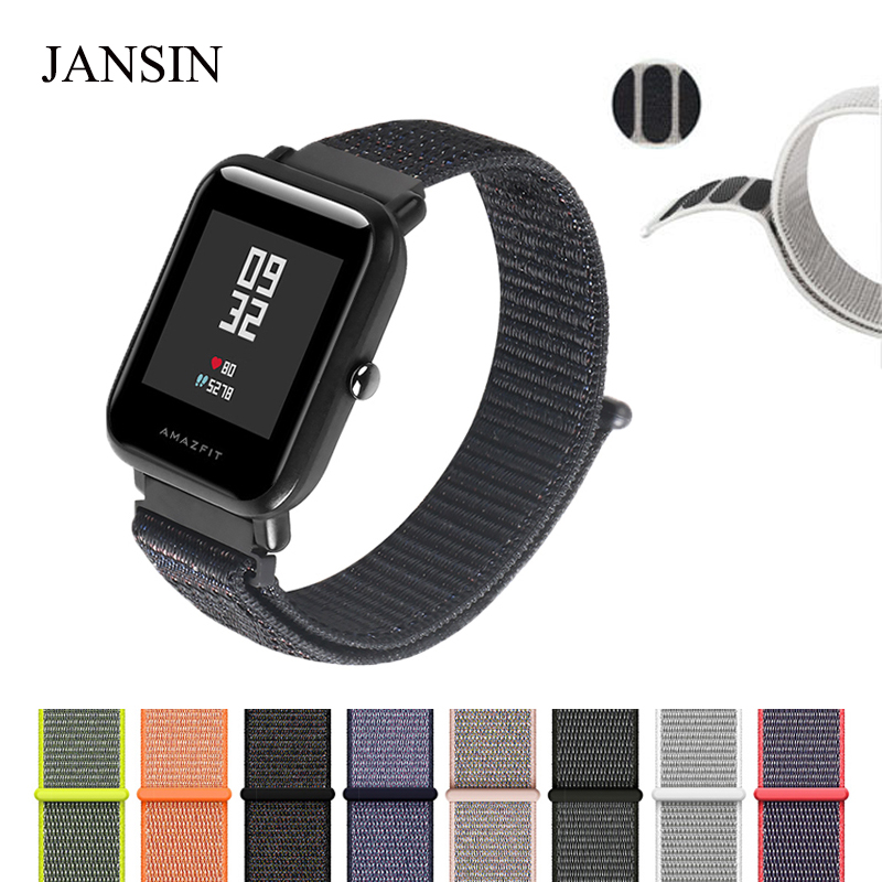 JANSIN Magnetic Nylon sport strap For Xiaomi Huami strap Amazfit Bip BIT PACE Lite Youth Smart Watchband Wearable Wrist Bracelet sikai universal 20mm stainless steel watch straps bracelets for huami bip bit pace lite youth watch for xiaomi amazfit bit band