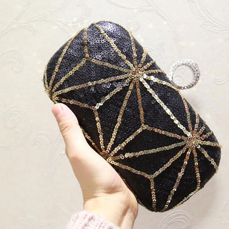 Women's Luxury Evening Bag Retro Beaded Clutch Bags Wedding Diamond Beaded Bag Crossbody Bags Small Shoulder Handbag New 2019