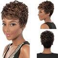 28 CM Moda de Nueva Corto Atractivo Natural Curl Peluca Llena Pelucas de Cosplay de La Muchacha de Las Mujeres Regalos