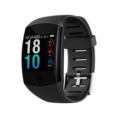 Fitness Smart Bracelet Blood Pressure Heart Rate Monitor Colorful Touch Screen Wristband Band Step Counter