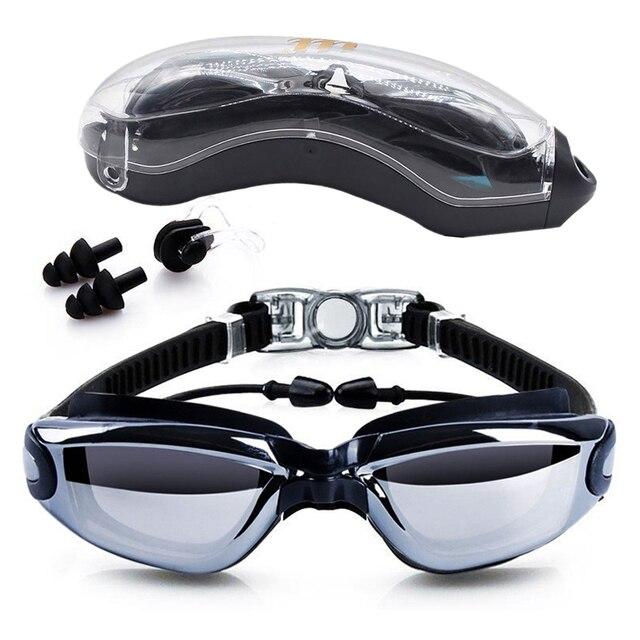 Óculos de natação HD Anti Fog 100% UV adulto óculos de natação com ...