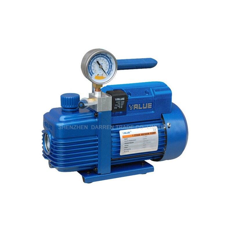HOT 1pc 220V 180W Rotary Vane  V-i120SV New vacuum pump Suitable R410a,R407C,R134a,R12,R22 tw 4a single stage 4 l rotary vane type portable vacuum pump with a single stage