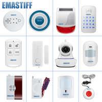 Bricolage porte complète PIR accessoires de fumée pour notre nouveau W2B WIFI sécurité à la maison GSM système d'alarme sans fil vidéo IP caméra moniteur
