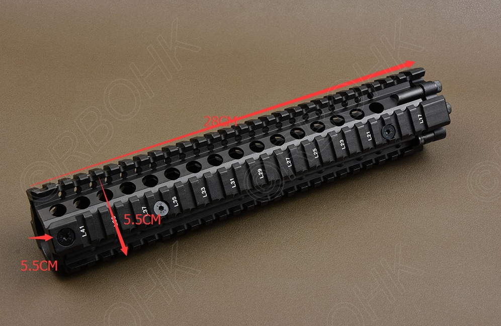 Tactical AR 15 picatinny rail Handguard system for rifle 12 inch rail cnc Aluminum alloy cutting R1172