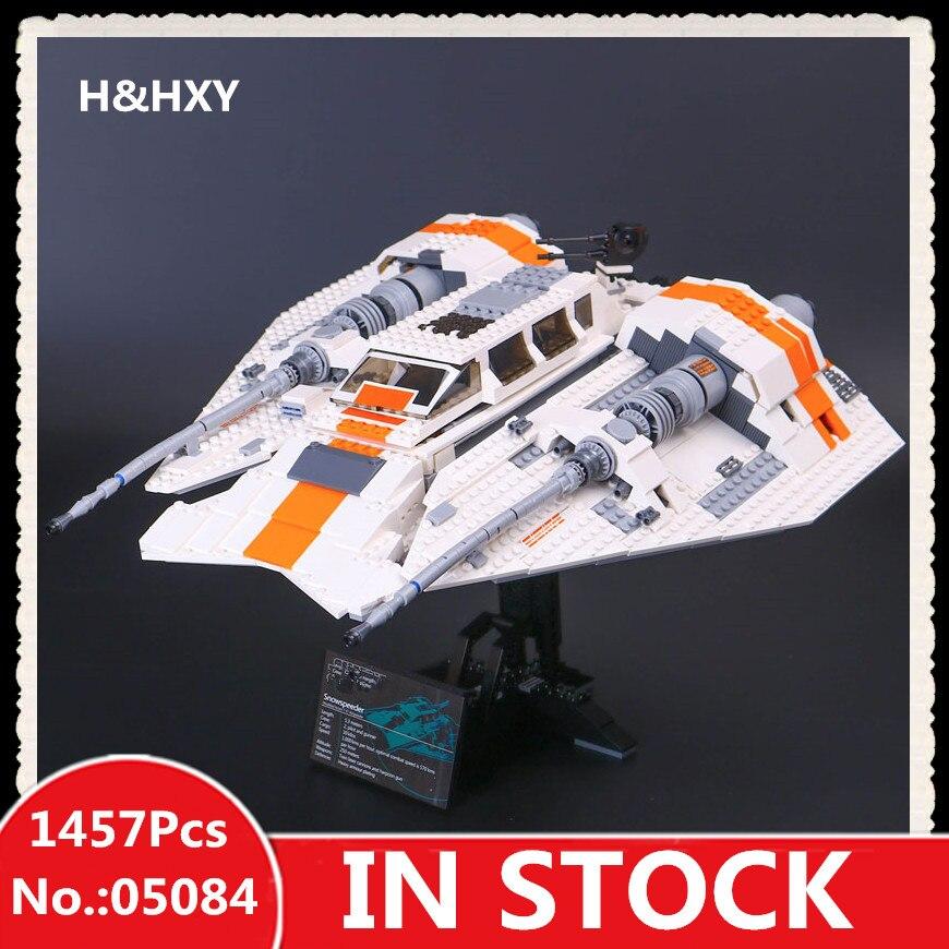 H&HXY 05084 S 1457Pcs Star Series W Stunning The Rebel Snowspeeder wars Set Educational Building Blocks Bricks Toys Model lepin w h inmon building the operational data store