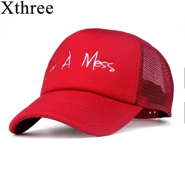 6a766b18c1 Xthree new mesh baseball cap summer girl snapback hat for men women gorra  bone casual casquette 5 panels Adjustable