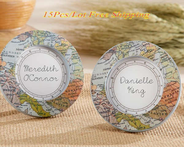 15pcs travel themed wedding and party decoration gift around the 15pcs travel themed wedding and party decoration gift around the world vintage map place card holder junglespirit Gallery