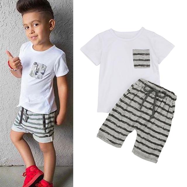 1471ad5a 2PCS Suit Baby Boys Clothes Children Summer Toddler Boys Clothing Set  Cartoon 2018 New Kids Fashion Cotton Cute Sets