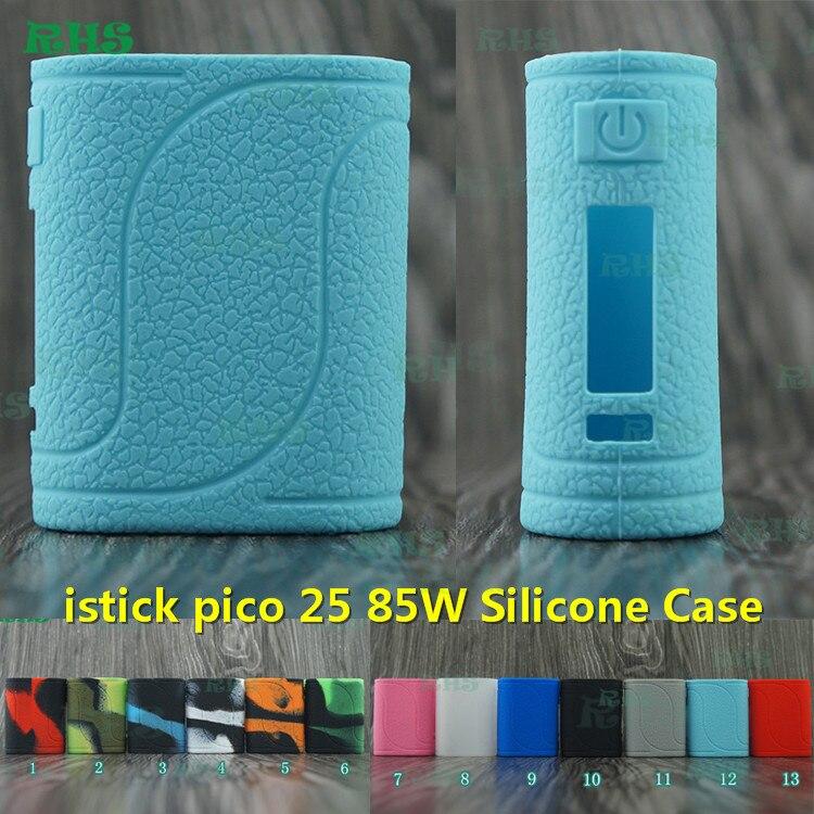 RHS 13 cores Capa de Silicone para Eleaf iStick Pico 25 85 WELLO kit cigarro eletrônico com mais espessa da pele apenas à prova de poeira navio livre