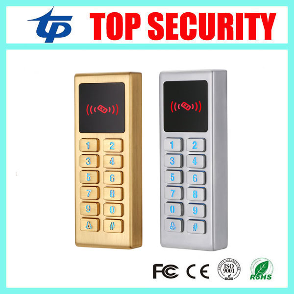 Waterproof surface metal case smart card RFID card door access control reader system LED key 2 colors security access control 20pcs lot fdd8782 to 252
