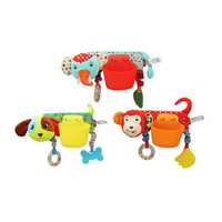 Baby Toys Cartoon Baby Rattles with Teethers Mobile Bed Dolls Newborn Toys Stroller Storage Case