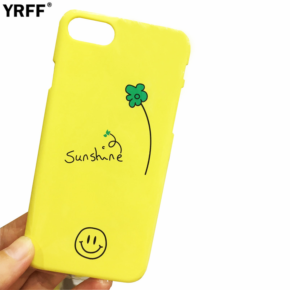 YRFF Fashion Smile face sunshine Flower yellow phone case