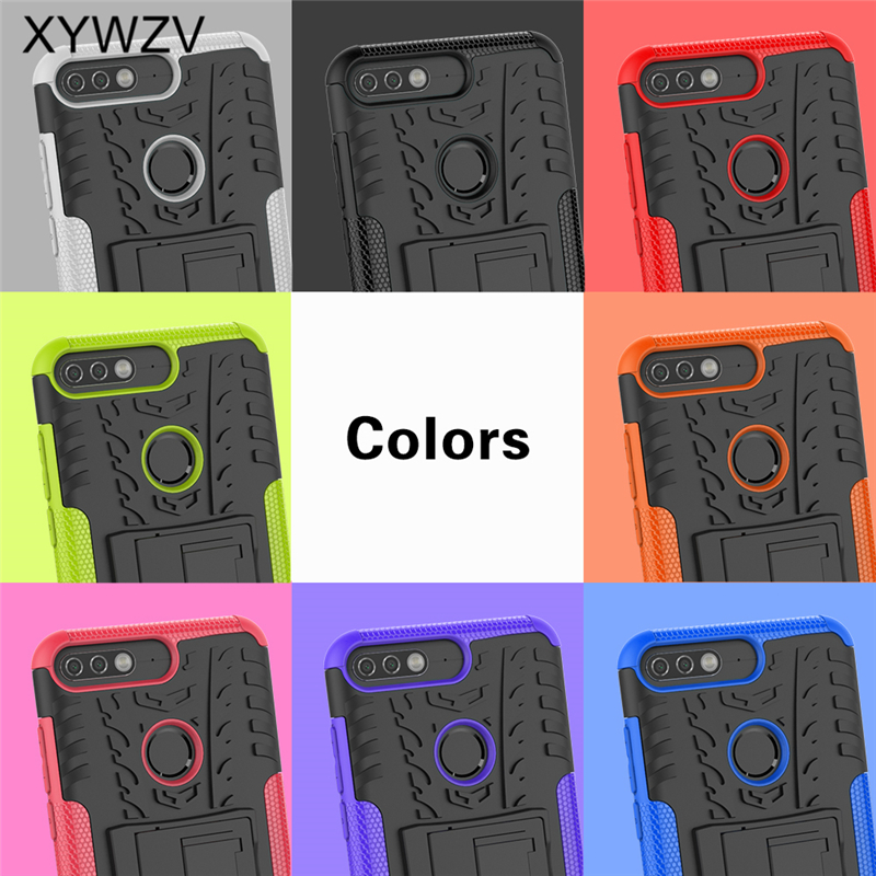 Image 5 - sFor Coque Huawei Y7 Prime 2018 Case Shockproof Hard PC Silicone Phone Case For Huawei Honor 7C Cover For Huawei Y7 Prime 2018-in Fitted Cases from Cellphones & Telecommunications