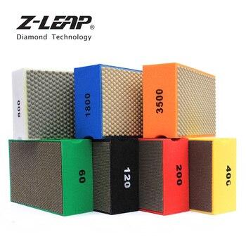 Z-LEAP 7pcs Diamond Hand Pads Polishing Tool Professional Abrasive Pad Glass Quartz Concrete Kitchen Mildew Cleaning Sanding Pad