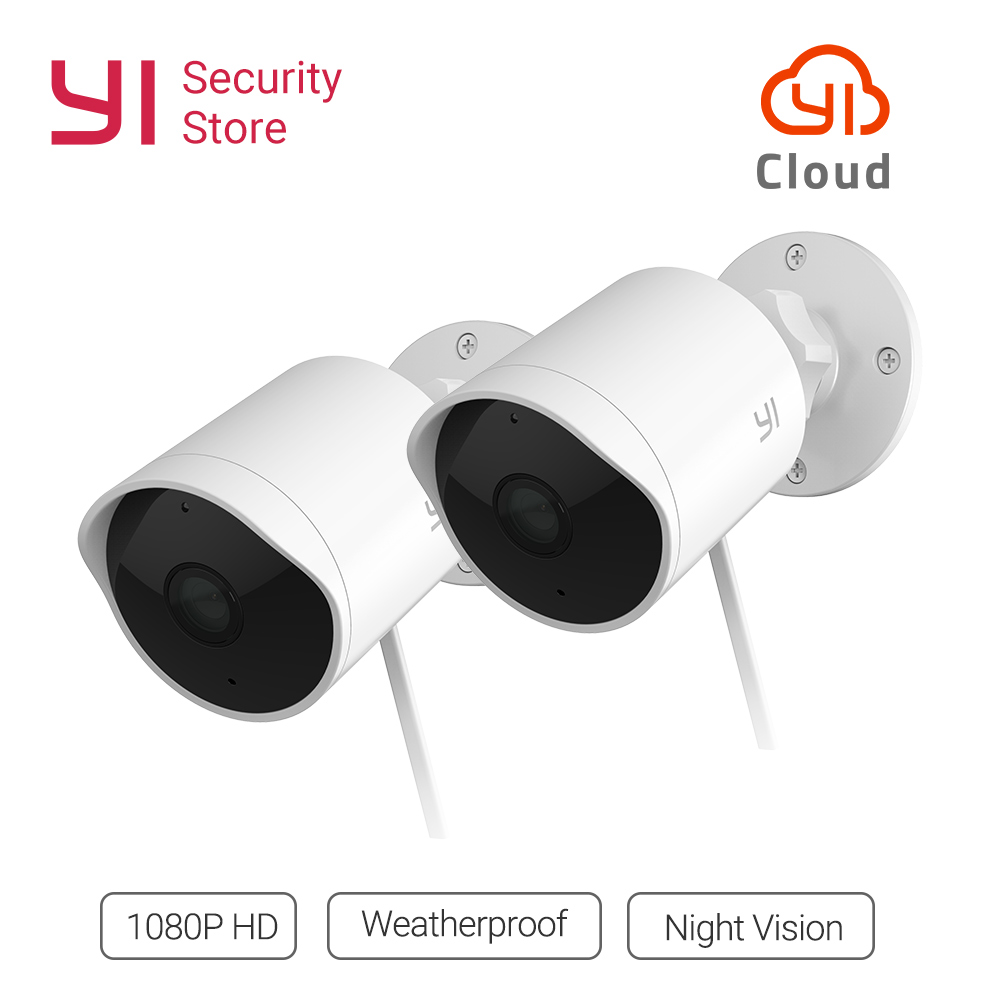 YI наружная камера безопасности облачная камера беспроводной IP 1080 P разрешение водостойкая система ночного видения Система видеонаблюдения...
