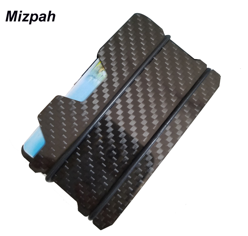 Real Carbon Fiber ID Credit Card Holder Business Cards Wallet With ...