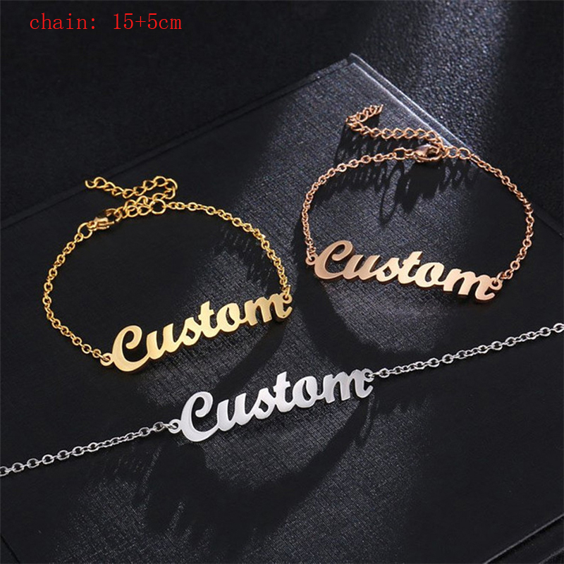 Custom Name Bracelet Stainless Steel Id