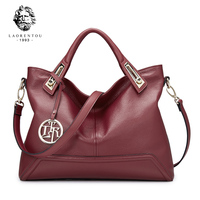 LAORENTOU Luxury Genuine Leather European Handbags Cow Leather Women S Handbags Made Of Genuine Ladies Real