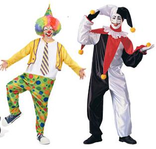 Halloween costume adult funny circus clown costumes magic show clown suit V for Vendetta mask party joker dress