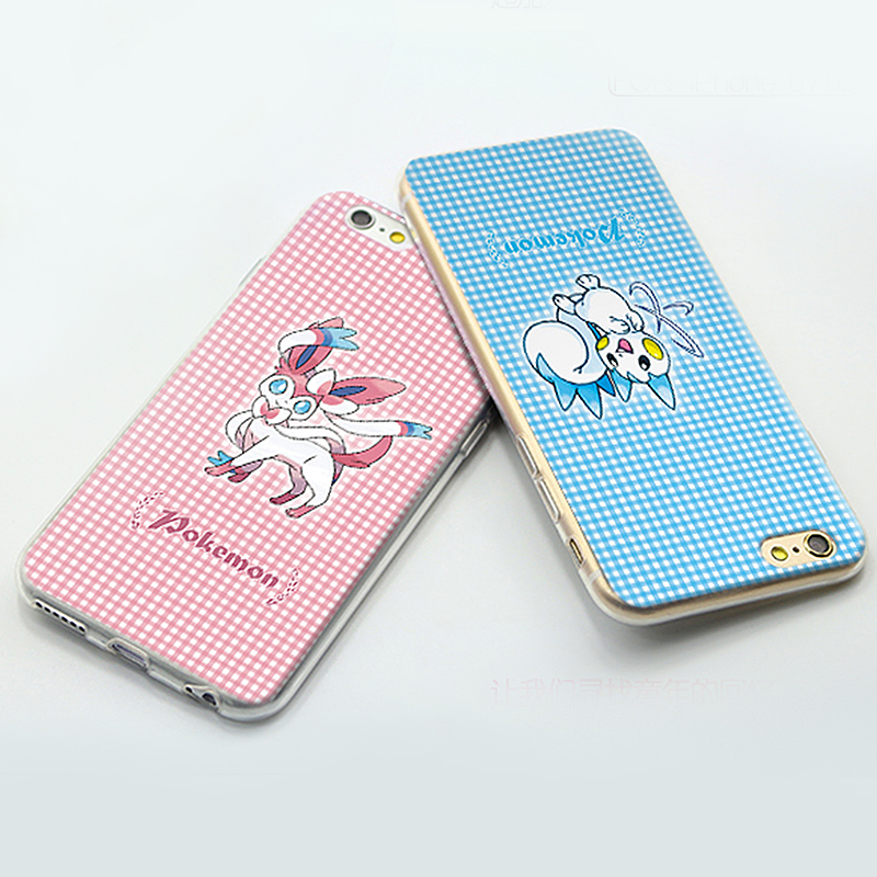 Schöne Cartoon Pokemons für iPhone 5 5s SE 6 6s 6 Plus 6s Plus Modemuster gemalt TPU Soft Phone Case