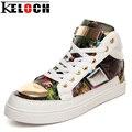 Keloch Новых Мужчин Вулканизации Обуви Металла Шику Дам Моды Любителей Повседневная Обувь Удобная Мужская Плоский Каблук Zapatos Mujer