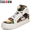 Keloch New Women Vulcanize Shoes Metal Bling Ladies Fashion Casual Shoes Lovers Comfortable Unisex Flat Heel Zapatos Mujer
