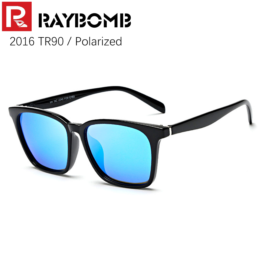 RAYBOMB - 2016 NEW TR90 Frame & REVO Polarized Lenses Sunglasses Men Women Brand Sun <font><b>glasses</b></font> with box Super light-weight
