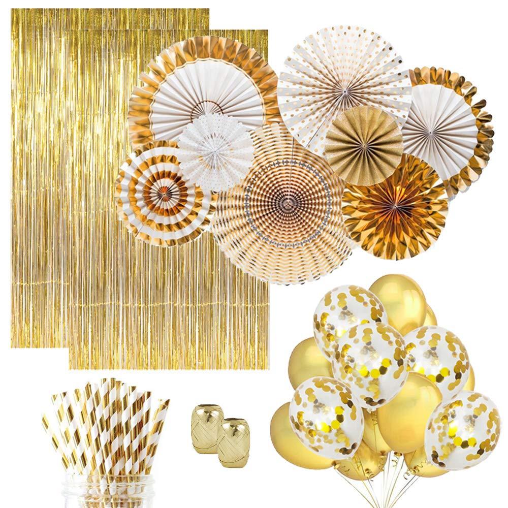 Decorações do partido decoração maison Confetes Ouro Balões Do Chuveiro de Bebê Decoração Do Casamento Bachelorette Party Aniversário Ouro