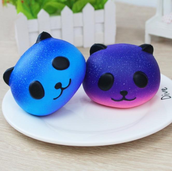 2pc/Lot Kawaii Panda Squishy Anti-stress Cute Phone Strap Charm PU toys gift Promotion