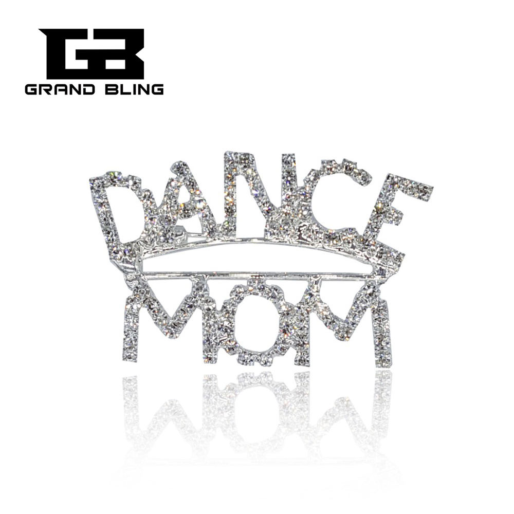 New Fashion Bling Austrian Rhinestone Brooch DANCE MOM Pin as The Gift to Mother  FREE SHIPPING